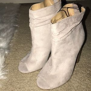 NWT express open toe booties!